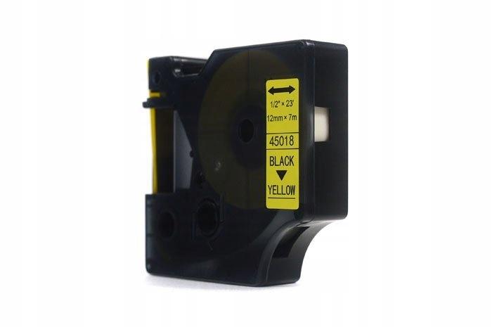 Taśma Dymo D1 Czarny na Żółtym 12mm x 7m LM100, L