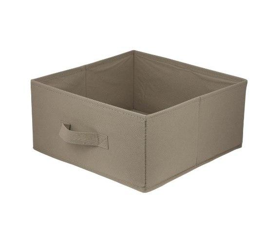 Pudełko tekstylne ANABEL 15x31x31cm brąz 7l szafa