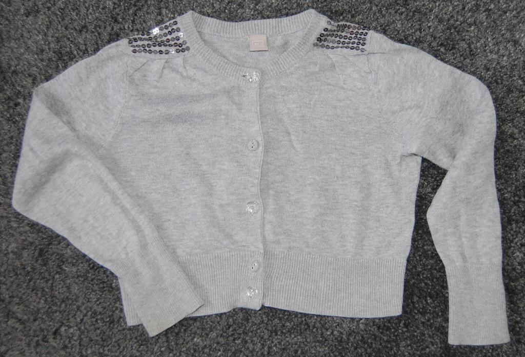 Szary krótki sweterek, TU rozm. 104
