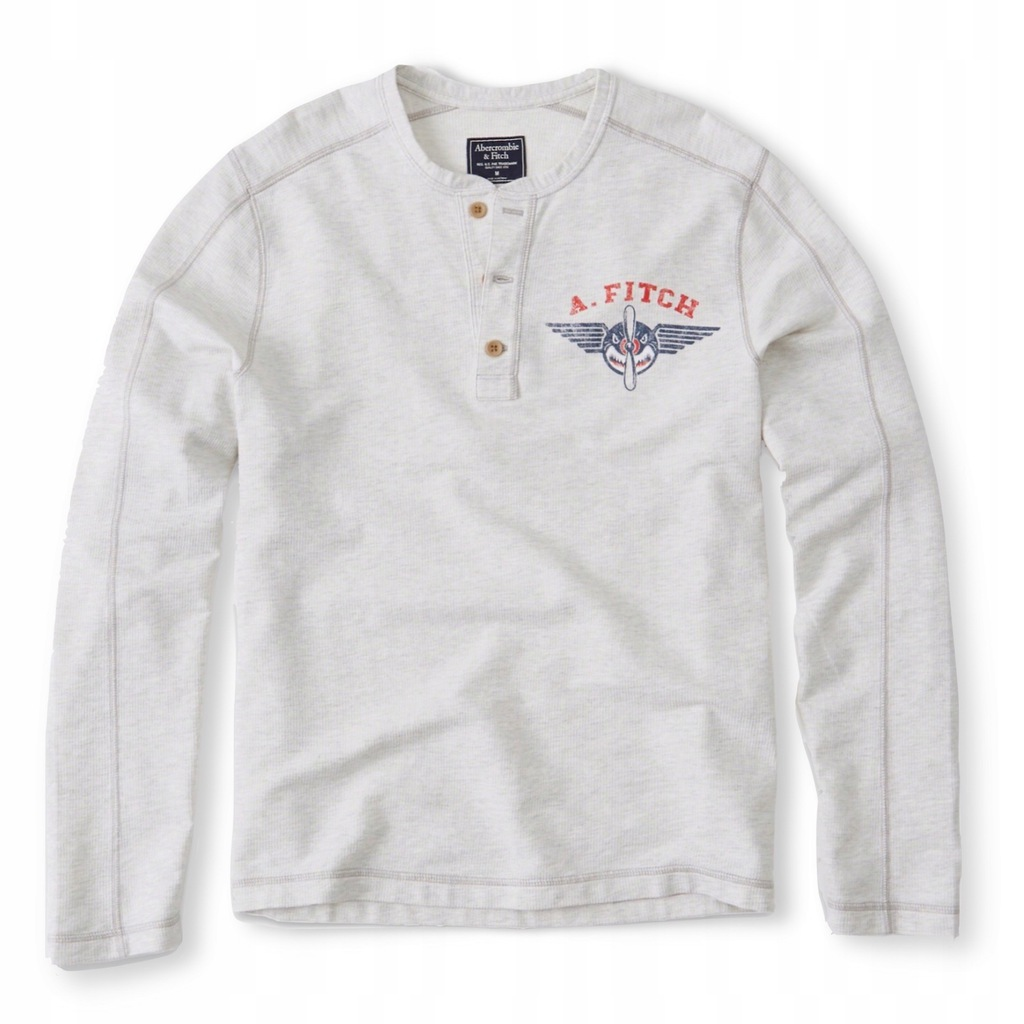 ABERCROMBIE Hollister Longsleeve T-shirt Henley L