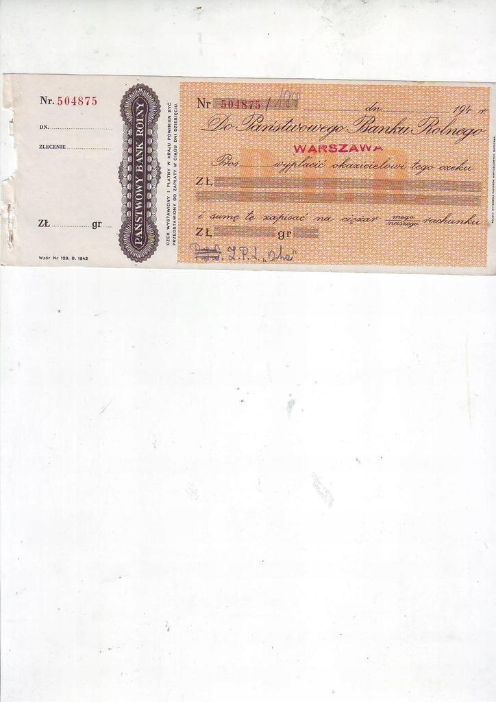 czek Bank Rolny