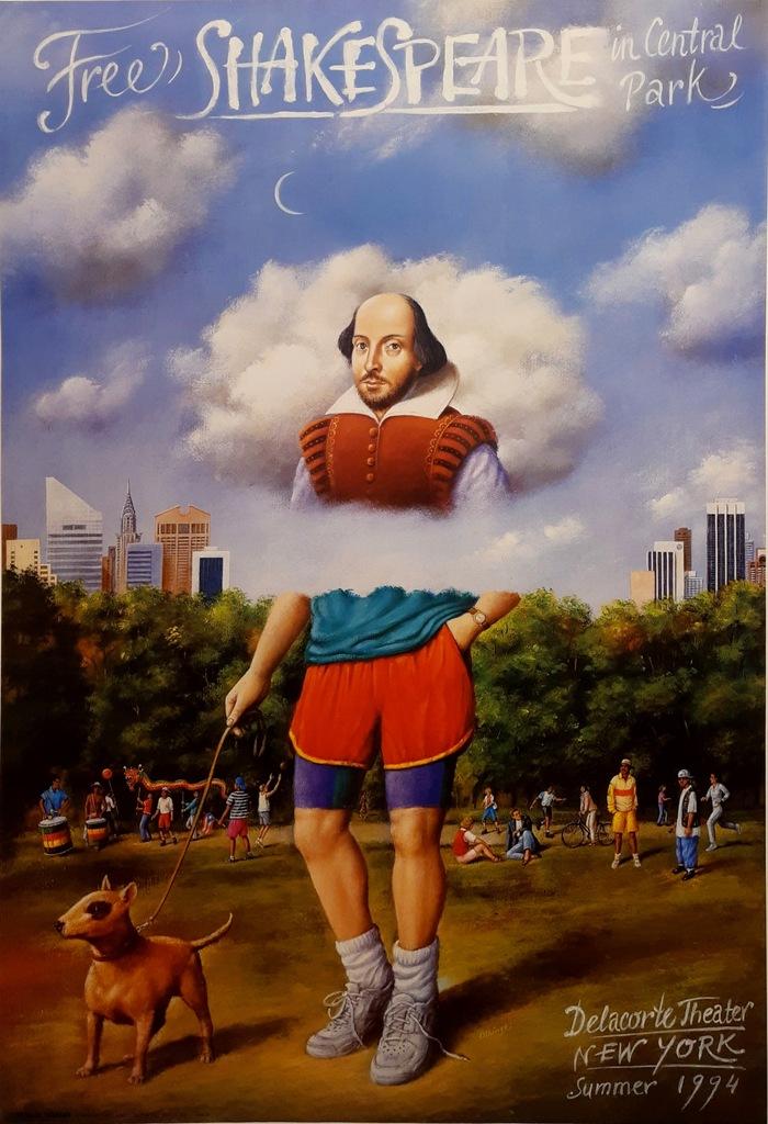 plakat Free Shakespeare in Central Park - Olbiński