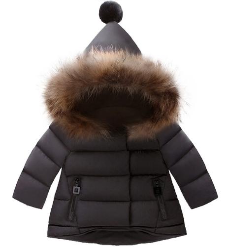 kurtka zimowa dziecięca chlopak czarna