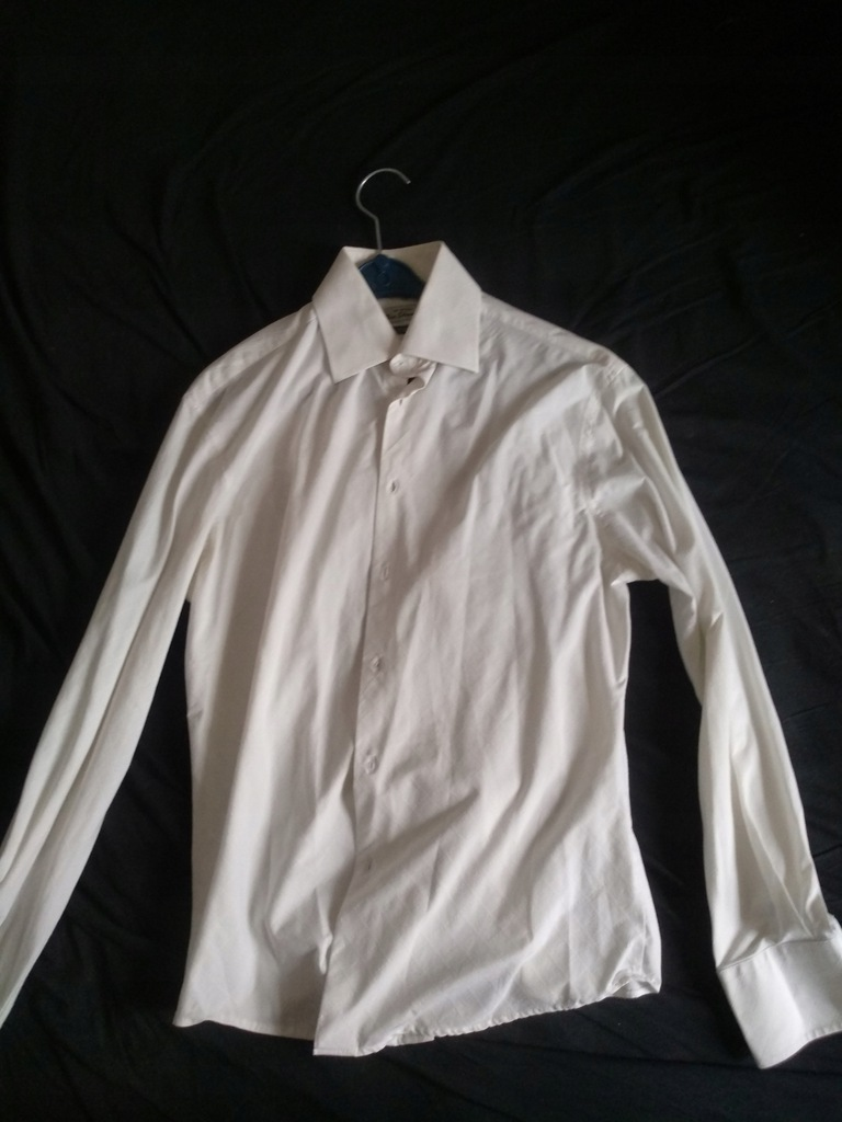 Ben Sherman 2 M biała koszula we wzorek