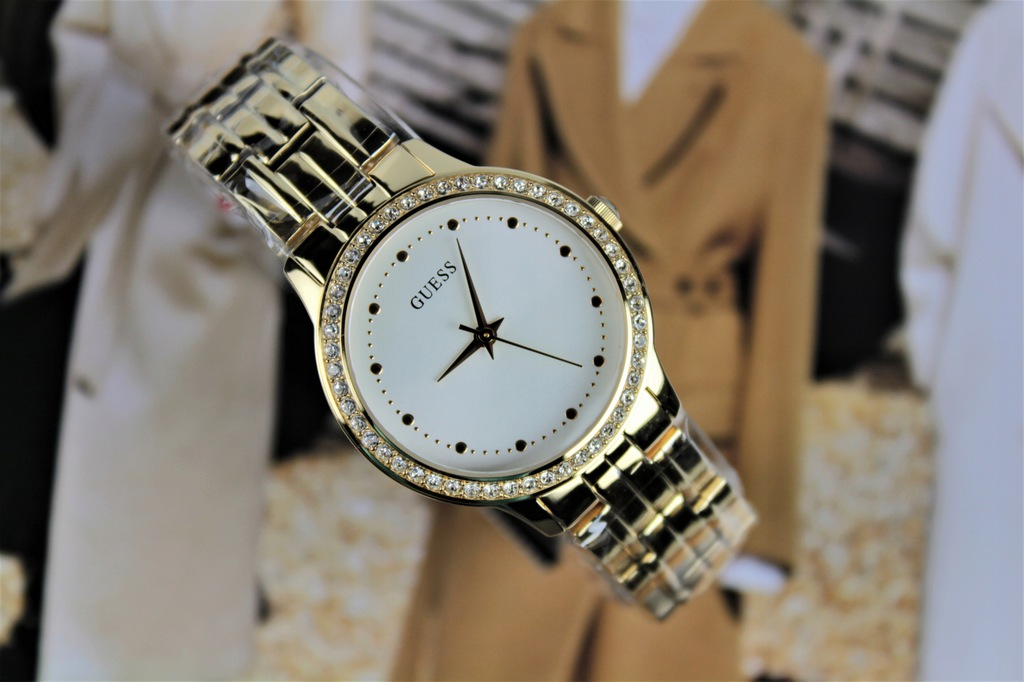 Zegarek damski Guess W1209L2 złoty bransoleta
