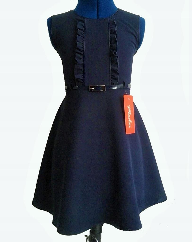 Granatowa Sukienka 140 Rozpoczecie Roku Szkola 8244337991 Oficjalne Archiwum Allegro