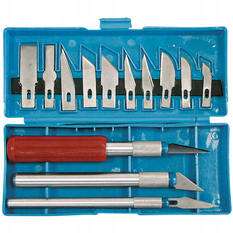 Noże modelarskie 3 sztuki +13 ostrzy Proline 30216
