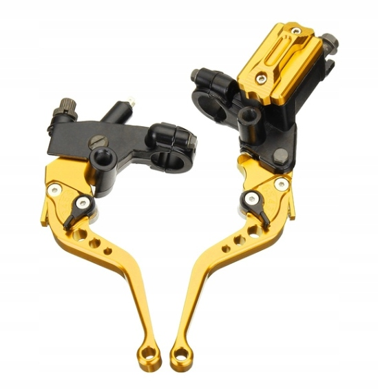 klamki z pompą hamulcową i adapterami kierownicy