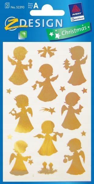 Naklejki - Złote aniołki