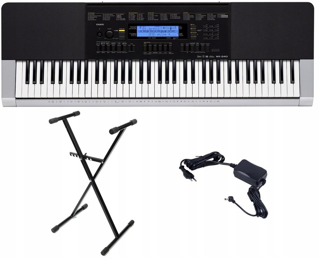 Keyboard Casio WK 240 PULPIT ZASILACZ STATYW
