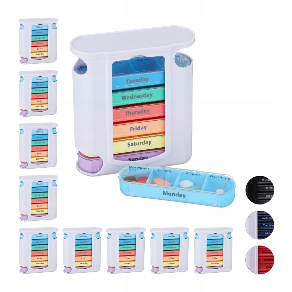 Pojemnik na tabletki kasetka organizer 7x4 10 szt.