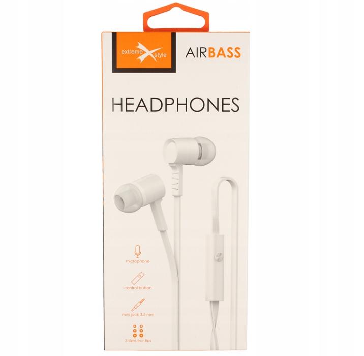 Słuchawki douszne Zestaw słuchawkowy AirBass biały