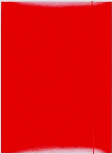 Teczka z gumką A4 lakierowana czerwona