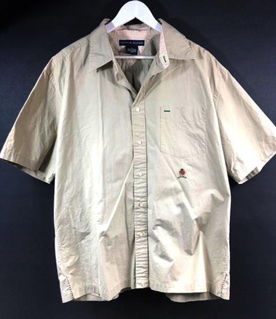 6358 TOMMY HILFIGER beżowa LOGOWANA koszula L