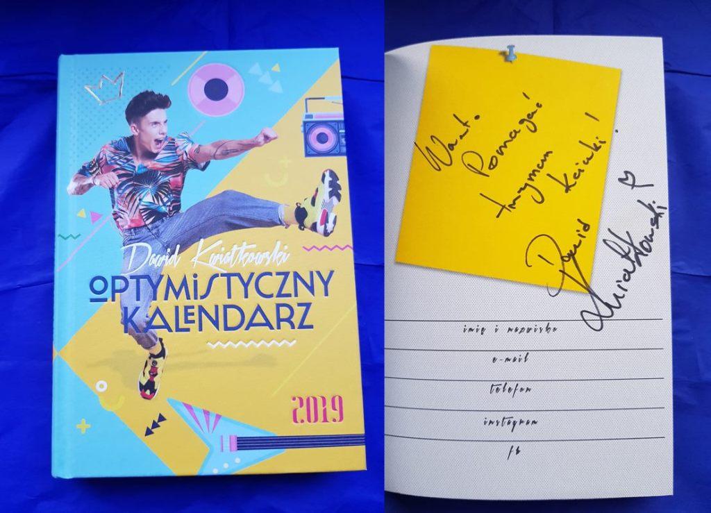 Kalendarz Dawida Kwiatkowskiego z dedykacją