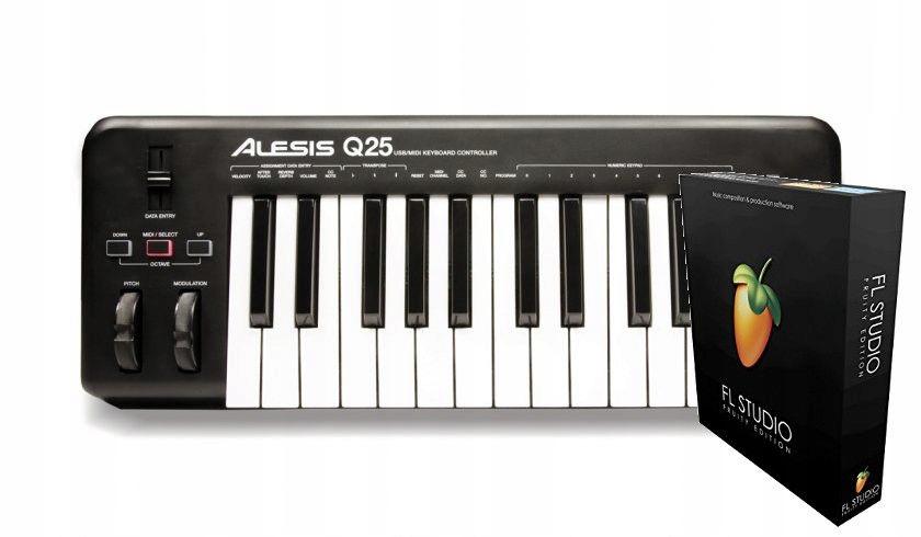 Alesis Q25 + FL Studio 20 Fruity Edition BOX