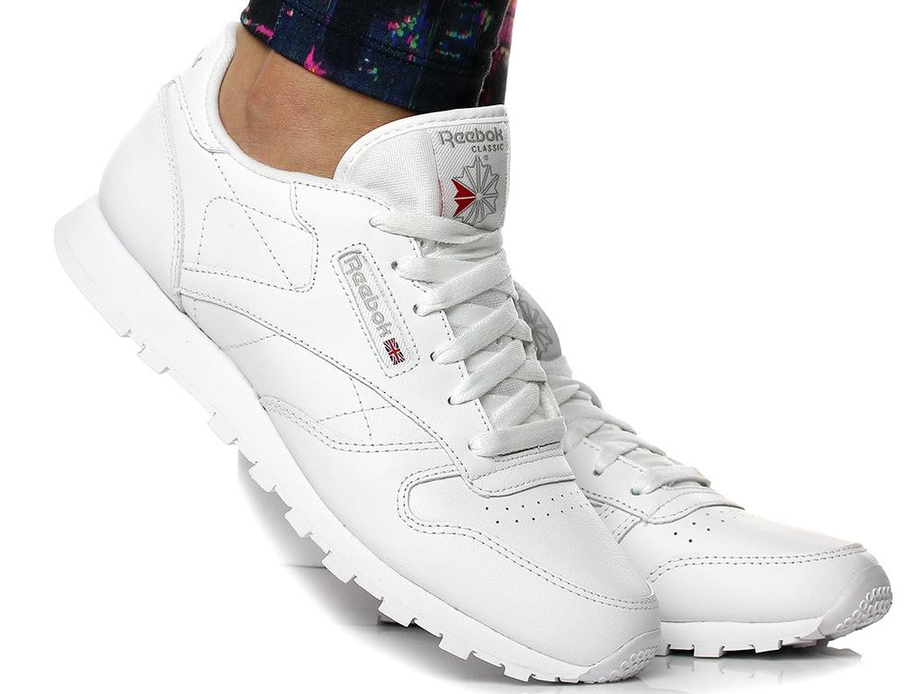 Buty Damskie Reebok Classic Leather 50151 Białe Allegro