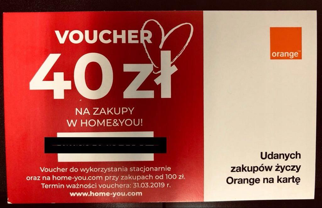 Home And You Karta Podarunkowa Bon Voucher 40 Zl 7764761305 Oficjalne Archiwum Allegro