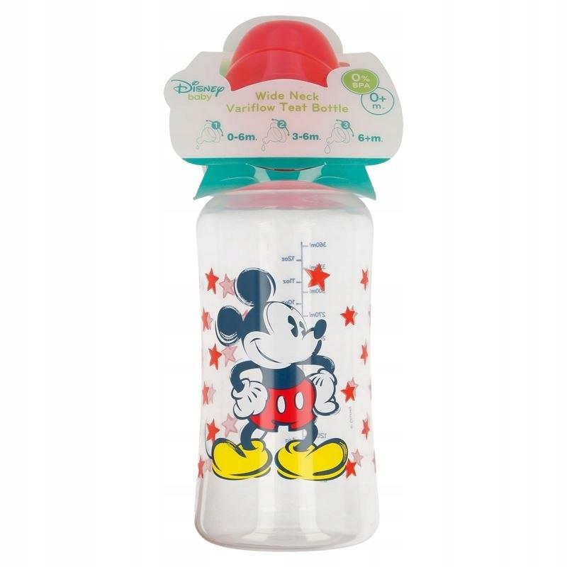 Mickey Mouse - Butelka ze smoczkiem 0 m+ 360 ml