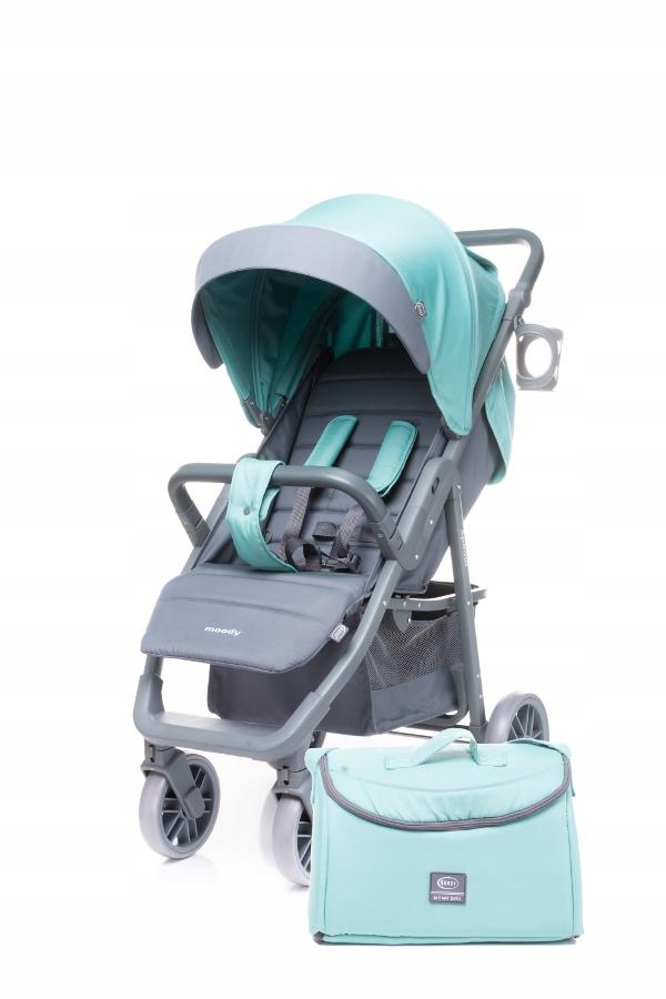 4 BABY Wózek spacerowy spacerówka MOODY XX AQUA