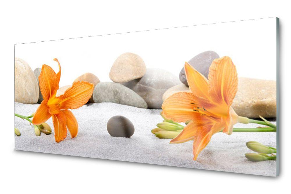 Lacobel Panel Szklany Ścienny Lilia Dekor 120x60