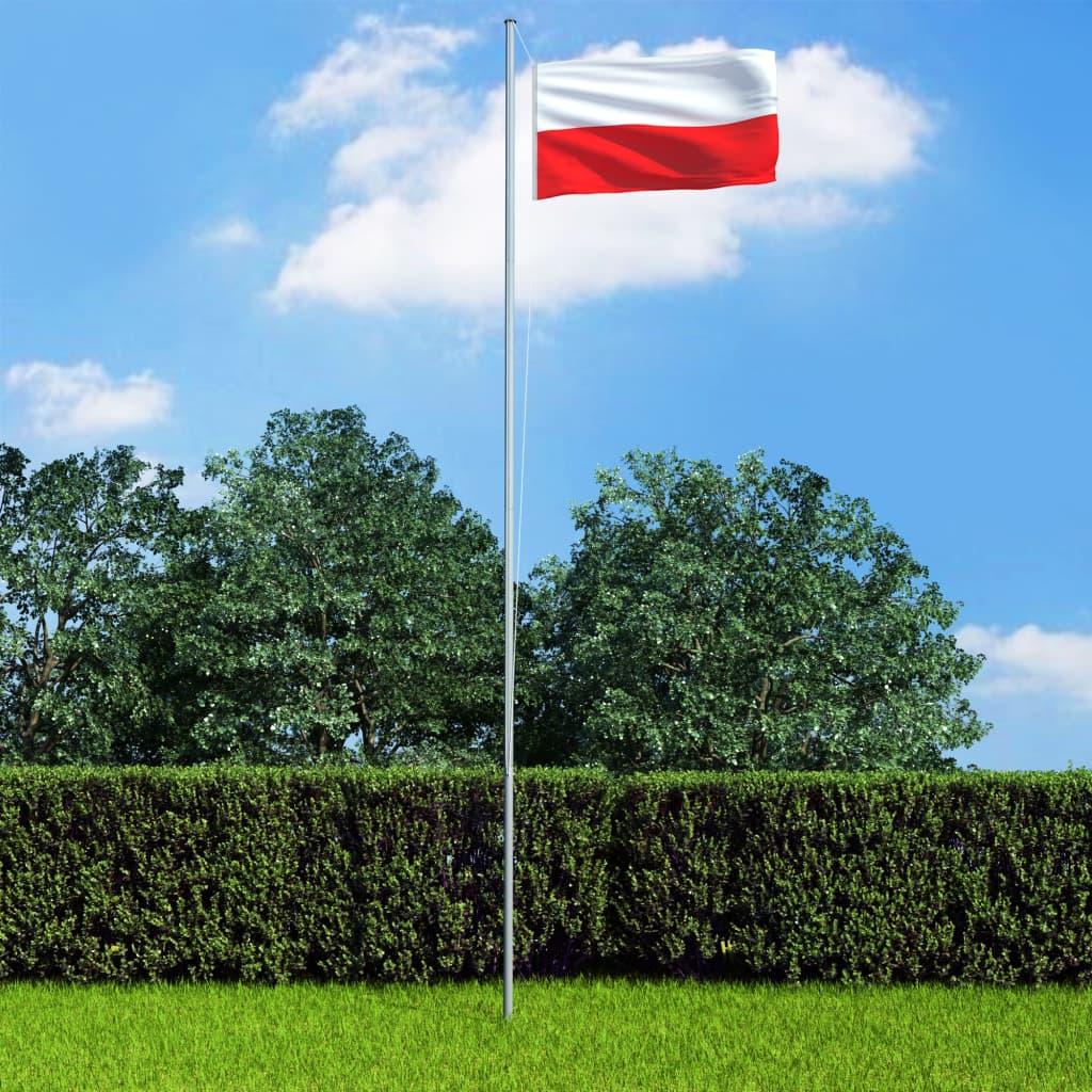 Flaga Polski z aluminiowym masztem, 6,2 m