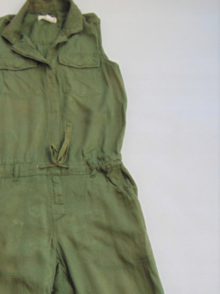 H&M, zielony kombinezon, damski, wygodny r. 40