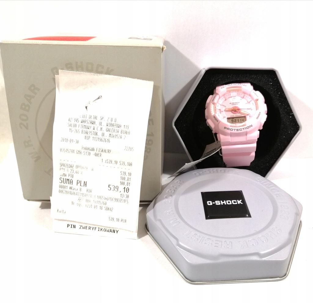 Zegarek casio g-shock GMA-S130-4AER różowy