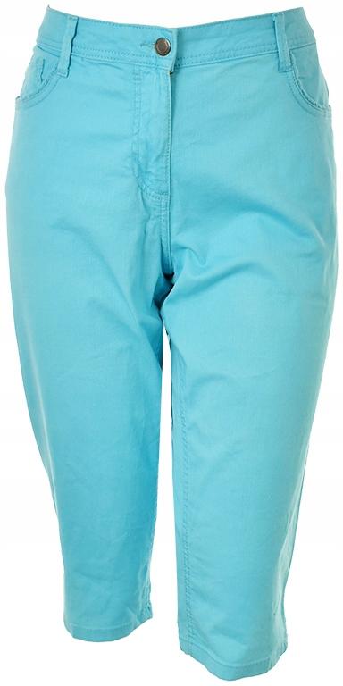 gAC1270 C&A niebieskie spodnie jeansowe 3/4 48