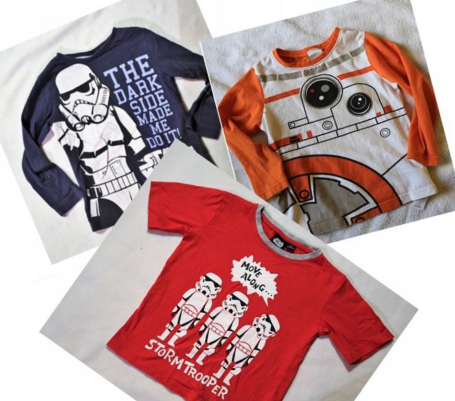 Trzy T-SHIRTY koszulki Gwiezdne Wojny dla dziecka