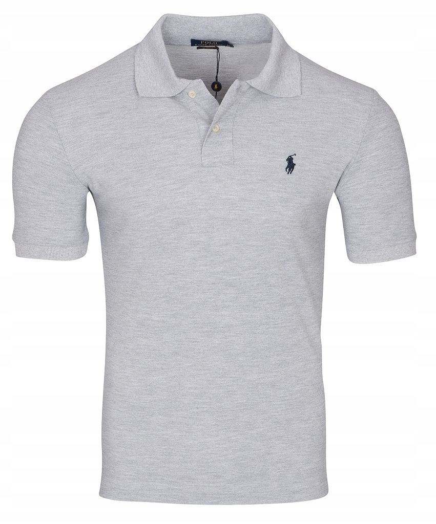 POLO RALPH LAUREN KOSZULKA SLIM FIT HARITAGE GREY
