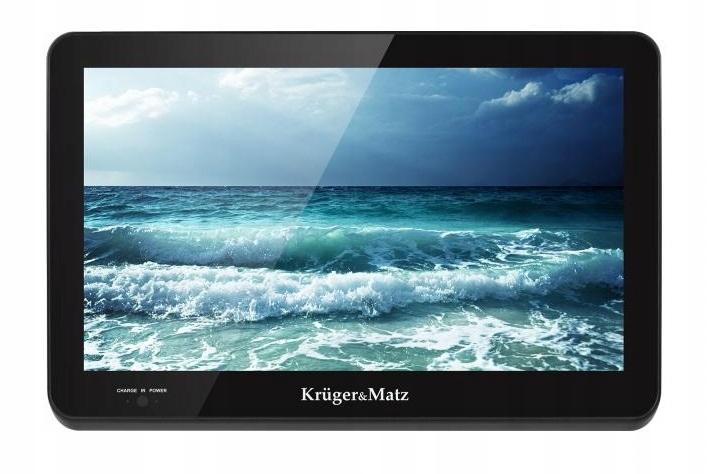 Kruger&Matz Przenośny monitor LCD TV DVB-T 12V