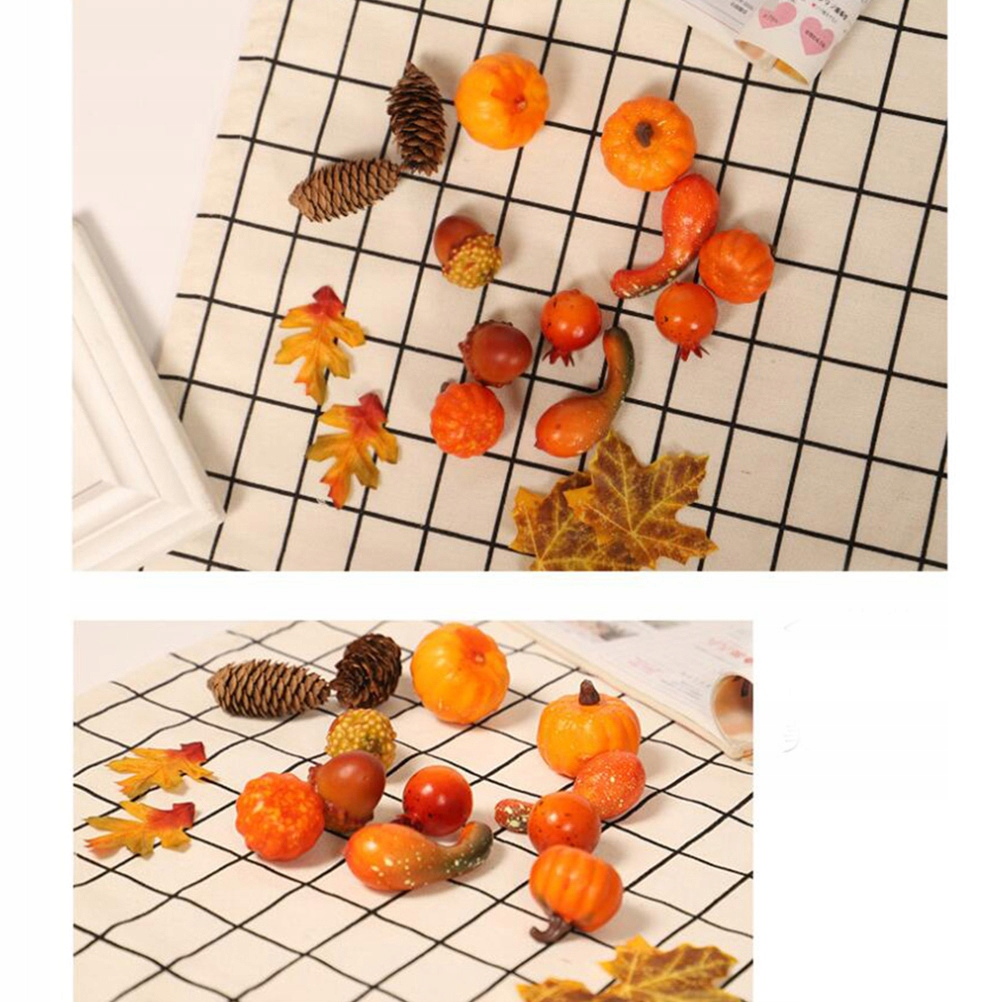 16 sztuk symulacja Halloween dynia liść klonu krea