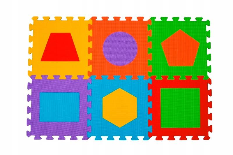 Puzzle EDUKACYJNE piankowe Figury GEOMETRYCZNE