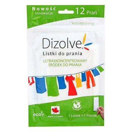 Dizolve Listki do prania 12 prań bezzapachowe