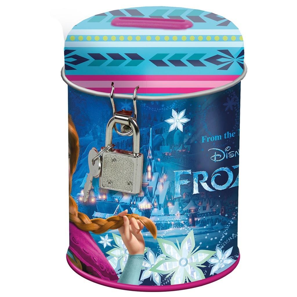 Skarbonka Derform Frozen metalowa z kłódką 8x11cm