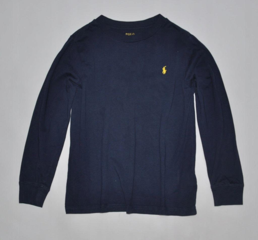 POLO RALPH LAUREN bluzka koszulka GRANAT 122 6Y