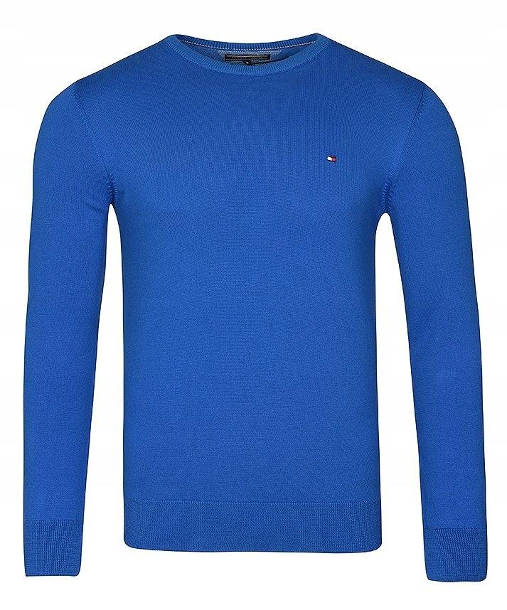Tommy Hilfiger sweter męski niebieski C neck XXL