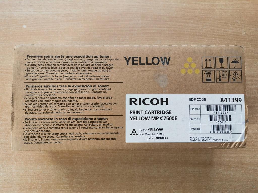 Toner Ricoh MPC7500E Yellow