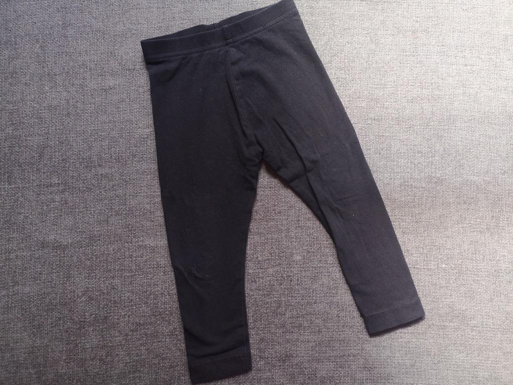 Czarne legginsy George 80-86 zaszyta dziurka