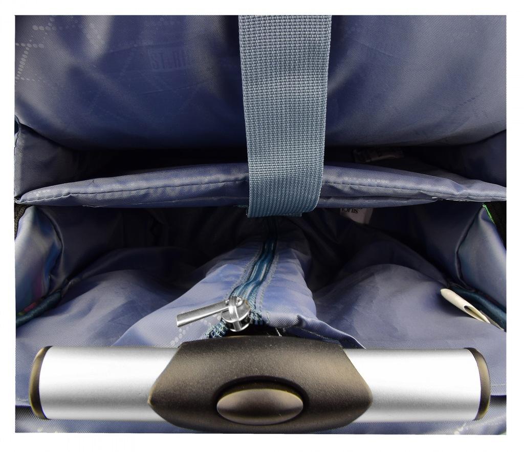 Plecak ST.RIGHT kółkach kolorowe piórka, FEATHERS