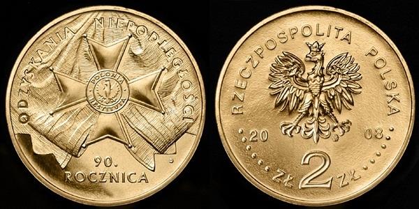 2 zł 90 Rocznica Odzyskania Niepodległości 2008