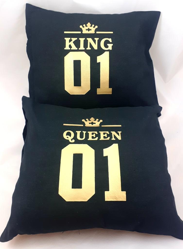 Poduszka King Queen 01 Krol Krolowa 40x40 Poszewka 8951277915 Oficjalne Archiwum Allegro