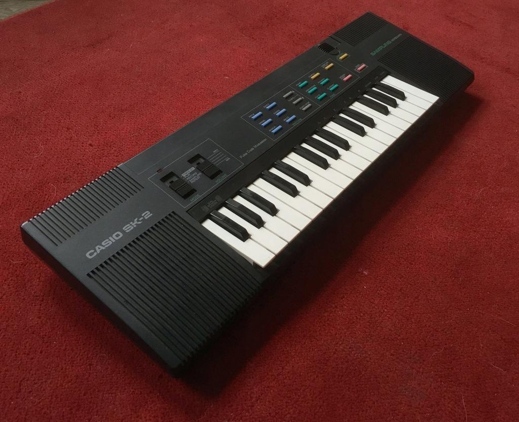Casio sk-2 sampler sampling keyboard jak sk-1