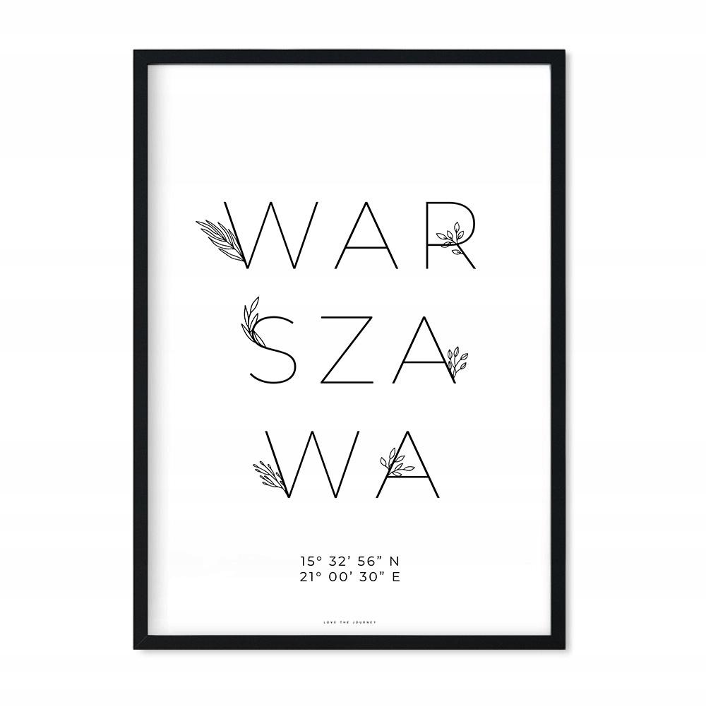 Plakat z Miastem Obraz Prezent na Ślub 30x40 cm