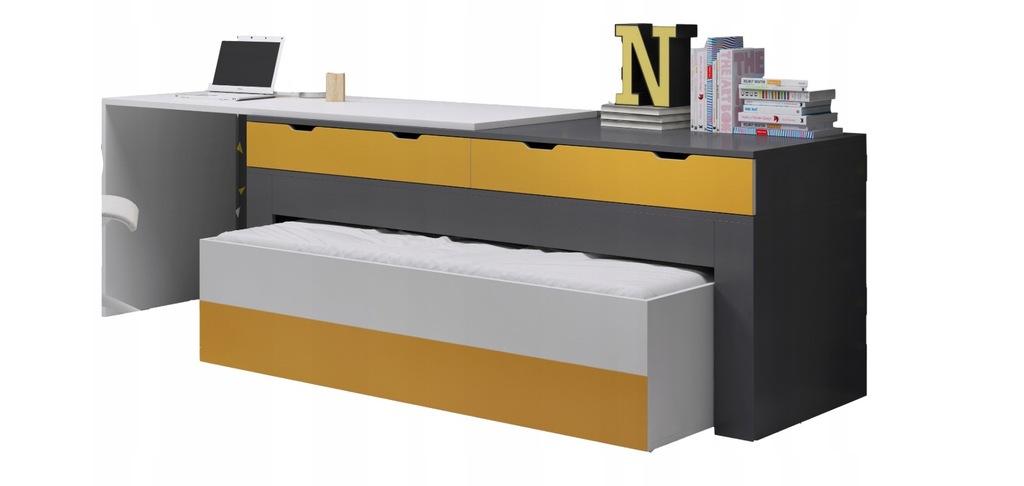 Łóżko z biurkiem wielofunkcyjny mebel komoda FILIP