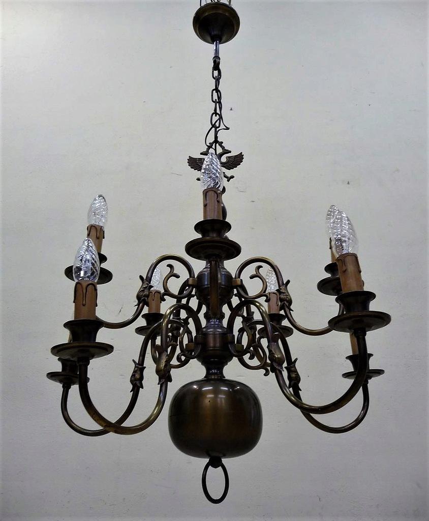 STYLOWA LAMPA MOSIĘŻNA 2-POZIOMOWA ŻYRANDOL
