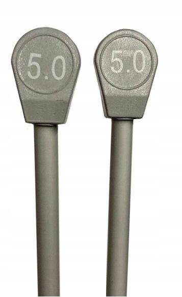 Druty Aluminiowe proste 35cm włóczka wełna nr 5