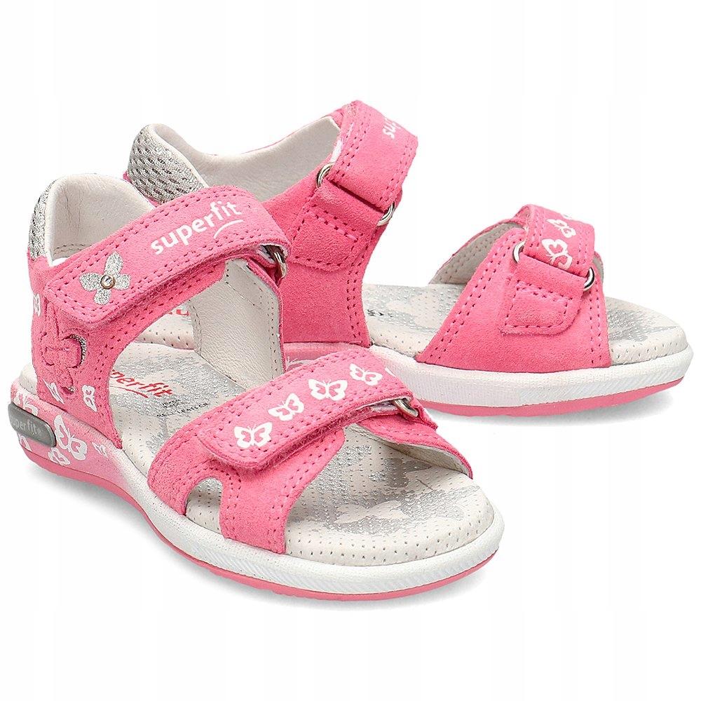 Superfit Różowe Sandały Dziecięce R.28