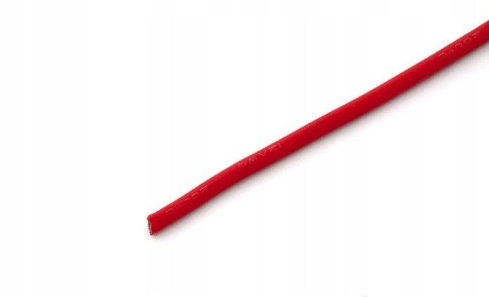 Przewód silikonowy 3,0 mm2 (12AWG) (czerwony) 1m
